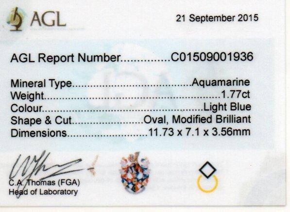 1.77ct Aquamarine - Oval
