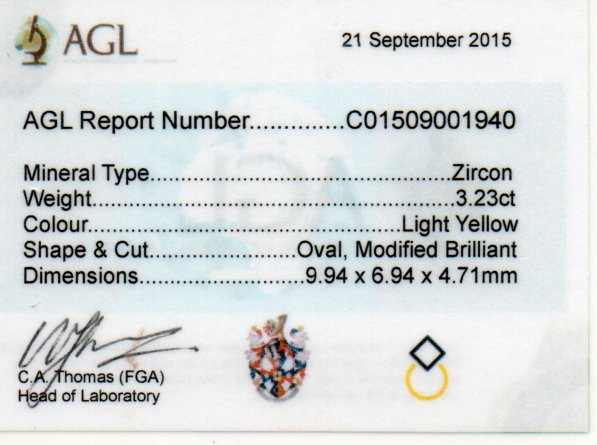 3.23ct Zircon - Oval