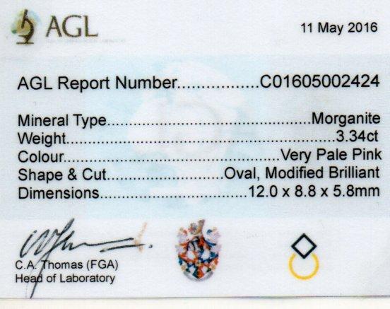 3.34ct Morganite - Oval