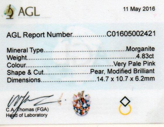 4.83ct Morganite - Pear