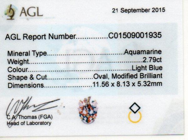 2.79ct Aquamarine - Oval