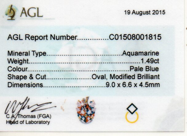1.49ct Aquamarine - Oval