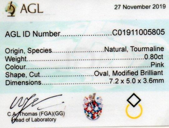 0.80ct Tourmaline - Oval