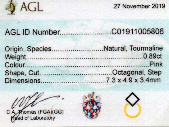 0.89ct Tourmaline - Octagon