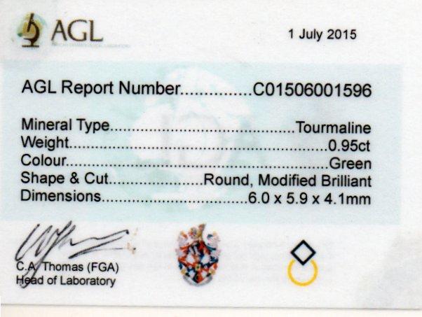 0.95ct Tourmaline - Round