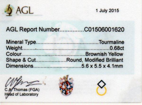 0.68ct Tourmaline - Round