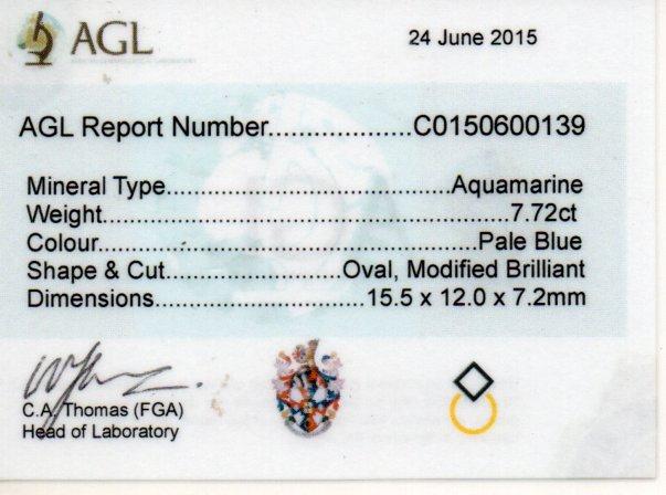 7.72ct Aquamarine - Oval