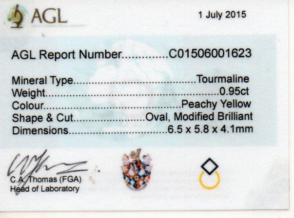 0.95ct Tourmaline - Oval