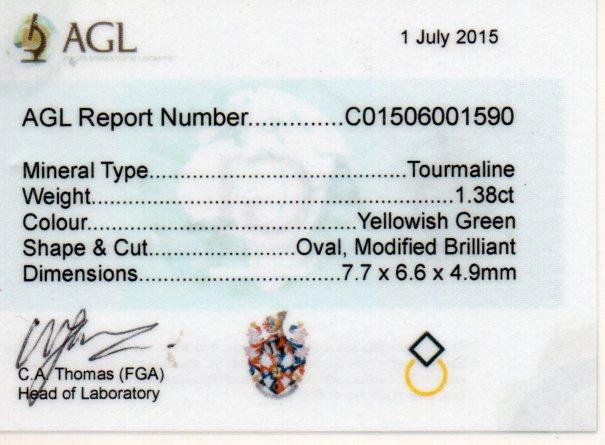 1.38ct Tourmaline - Oval