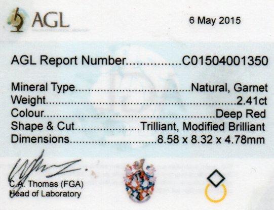 2.41ct Garnet - Trillion