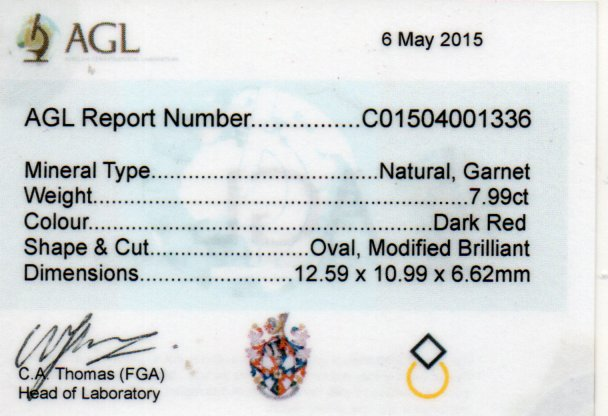 7.99ct Garnet - Oval