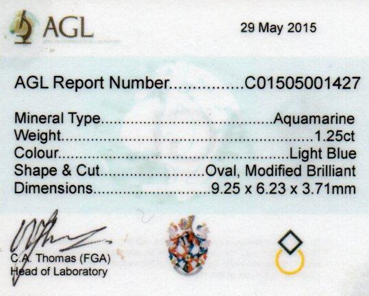 1.25ct Aquamarine - Oval