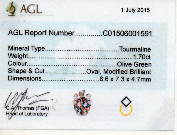 1.70ct Tourmaline - Oval