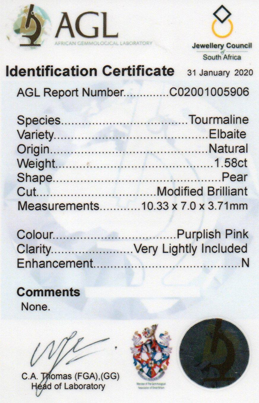 1.58ct Tourmaline - Pear